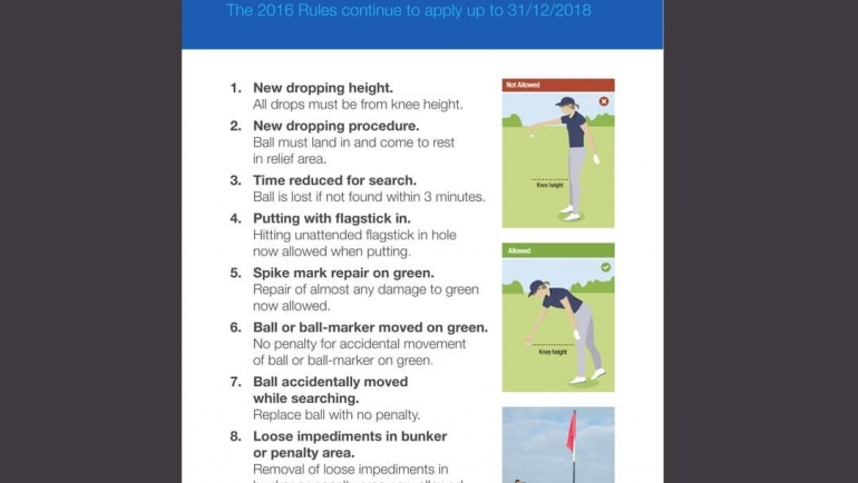 New Golf Rules!