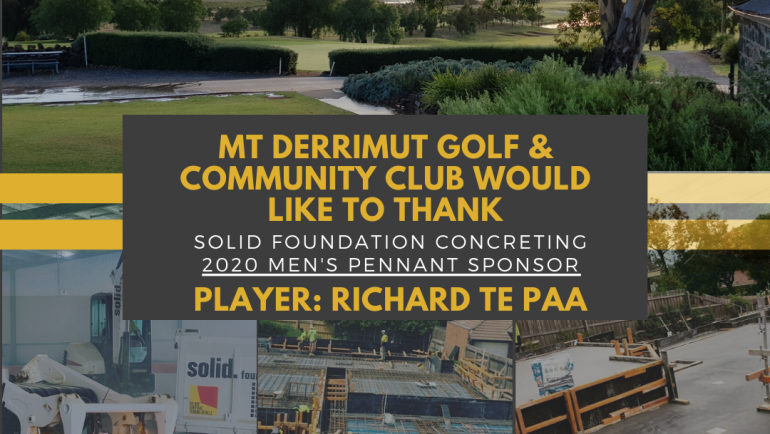 2020 Men's Sponsor: Solid Foundation Concreting for Richard Te Paa!