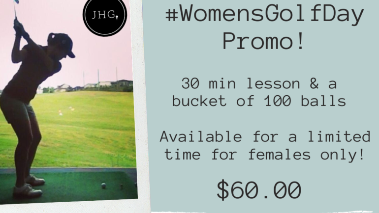 #WomensGolfDay Lesson + Range Promo!