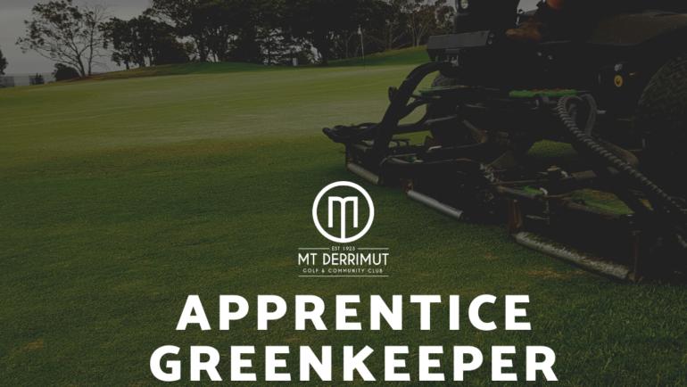Apprentice Green Keeper Vacancy