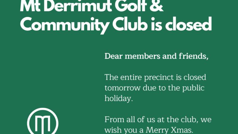 Xmas Day – Precinct Closed