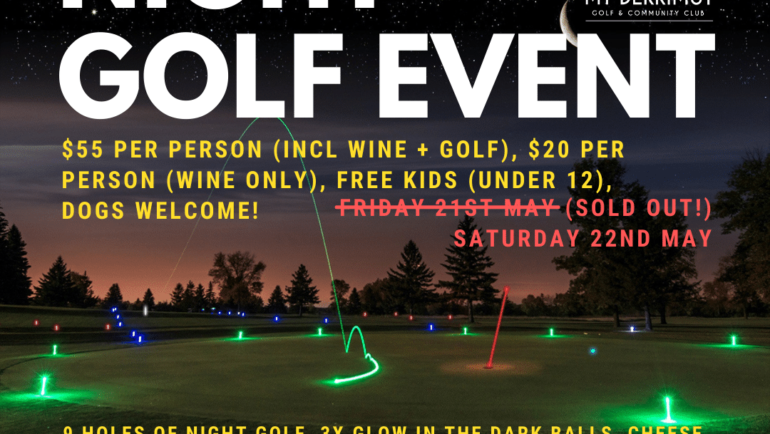 Night Golf Event – Sat 22nd May