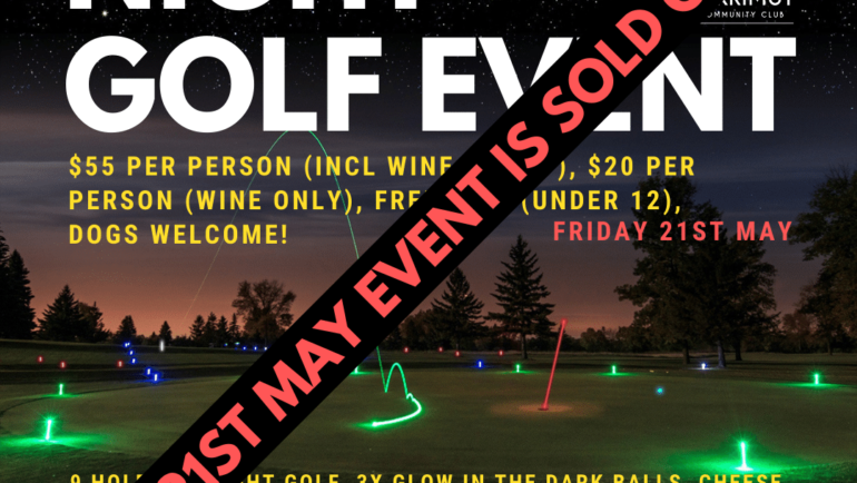 Night Golf Event – Fri 21st May (SOLD OUT!)