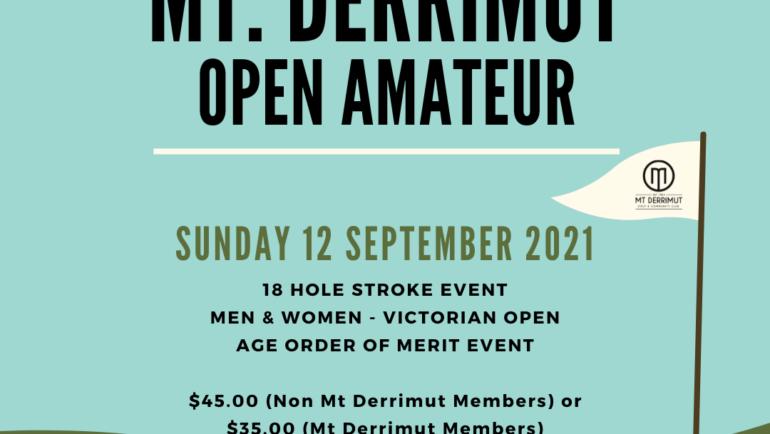 Mt Derrimut Open Amateur