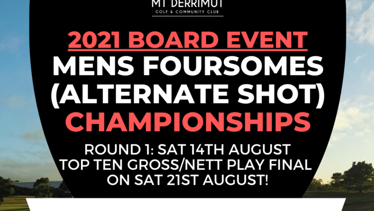 Board Event: Mens Foursomes